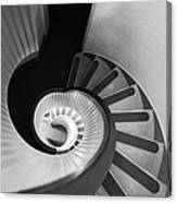 Narrow Circular Staircase Abstract Canvas Print