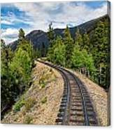 Narrow Gauge Tracks In Silver Country Canvas Print