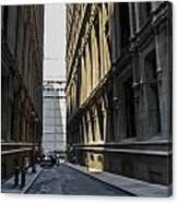 Narrow Manhattan Street Canvas Print
