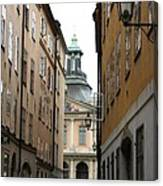 Narrow Road Stockholm Canvas Print