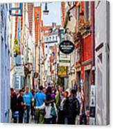 Narrow Street Art Canvas Print