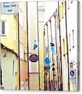 Narrow Street In Passau Germany Canvas Print