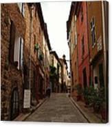 Narrow Street In Provence Canvas Print