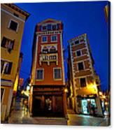 Narrow Streets And Buildings - Rovinj Croatia Canvas Print