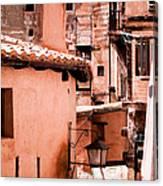 Narrow Streets Of Albarracin  Canvas Print