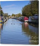 Narrowboats Canvas Print