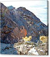 Narrowing Of Trail In Big Painted Canyon Trail In Mecca Hills-ca Canvas Print