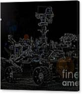 Nasa Vehicle System Vstb Rover On The Dark Side Canvas Print