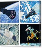Nasa Manned Spacecraft Of The 1960's. Canvas Print
