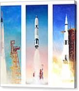 Nasa Rockets Canvas Print