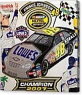 Nascar 2007 Champion Canvas Print