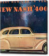 Nash 400 - Vintage Car Poster Canvas Print