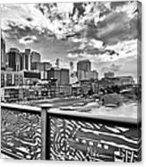 Nashville From The Shelby Bridge Canvas Print
