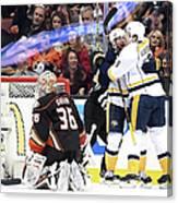 Nashville Predators V Anaheim Ducks - Canvas Print