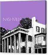 Nashville Skyline Belle Meade Plantation - Violet Canvas Print