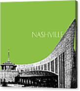 Nashville Skyline Country Music Hall Of Fame - Olive Canvas Print