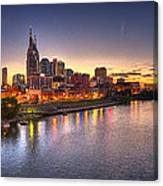 Nashville Skyline Panorama Canvas Print