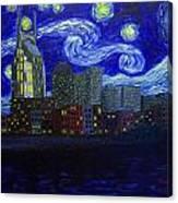 Dedication To Van Gogh Nashville Starry Nights Canvas Print