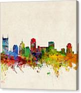 Nashville Tennessee Skyline Canvas Print