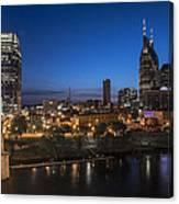 Nashville Tennessee With Pedestrian Bridge  Canvas Print
