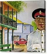 Nassau Bahamas Policeman Canvas Print
