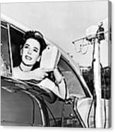 Natalie Wood At A Drive-in Canvas Print