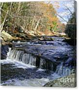 Natchaug River Falls Canvas Print