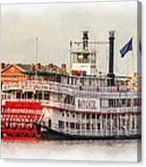 Natchez Sternwheeler Paint Canvas Print