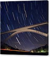 Natchez Trace Bridge At Night Canvas Print