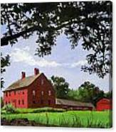 Nathan Hale Homestead Coventry Connecticut Canvas Print