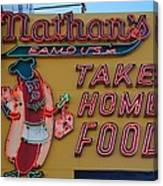 Nathan's Famous Canvas Print