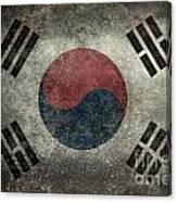 National Flag Of South Korea Desaturated Vintage Version Canvas Print