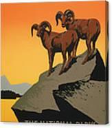 National Parks Preserve Wildlife Vintage Poster 1938 Canvas Print