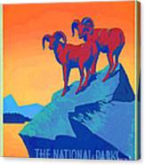 National Parks Wild Life Poster Canvas Print