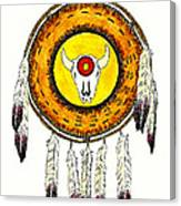Native American Ceremonial Shield Number 2 Canvas Print