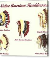 Native American Headdresses Number 4 Canvas Print