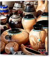 Native American Pottery Sale Canvas Print