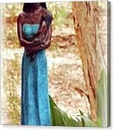 Native American Statue Canvas Print