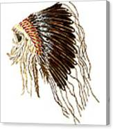 Native American War Bonnet - Plains Indians Canvas Print