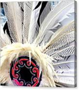 Native American White Feathers Headdress Canvas Print
