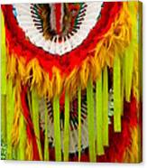 Native American Yellow Feathers Ceremonial Piece Canvas Print