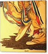 Native Dancer's Feet 1 Canvas Print