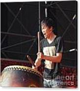 Native Drummer Performs In Taiwan Canvas Print
