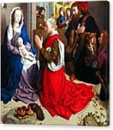 Nativity And Adoration Of The Magi Canvas Print