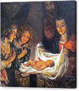 Nativity Scene Study Canvas Print