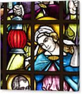 Nativity Window Canvas Print