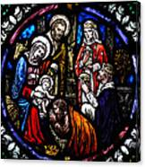 Nativity With Kings Canvas Print