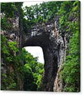 Natural Bridge In Rockbridge County Virginia Canvas Print