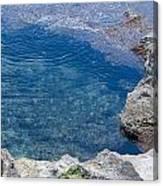 Natural Pool Of Seawater Canvas Print