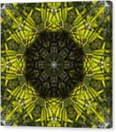 Caleidoscope - Green Leaves Canvas Print